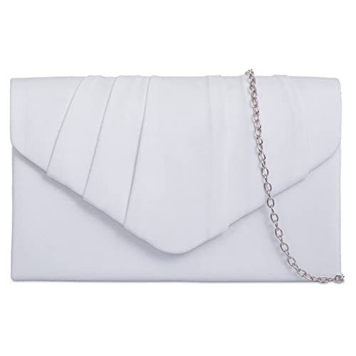 7336d046d fi9® Plain Suede Pleated Wedding Ladies Party Prom Evening Clutch Hand Bag  Purse