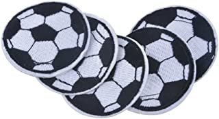 Ximkee(10 Pack)Soccer Ball Embroidered Sew Iron On Applique Patches