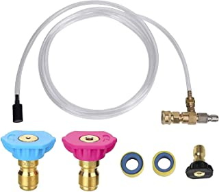 Second Story Quick-Connect Nozzle Kit, Adjustable Soap Chemical Injector for Pressure Washer