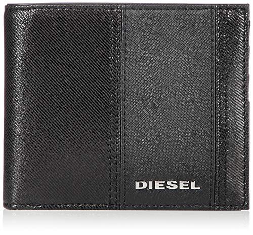Diesel Herren CORBOLA HIRESH S - Wallet Zweifalten-Geldbörse, schwarz, Einheitsgröße