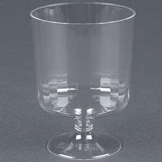 WNA Comet CCW8240 Classicware 8 oz. Clear Plastic Pedestal Wine Cup - 240/Case