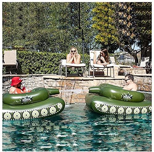 AGLOAT Uppblåsbar simbassäng flytande, 155 cm pool tank typ vatten spray ring, barn sommar strand fest flytande pool leksak, vuxen simning ring flytande rad, lek vattenkanon tillsammans grön boj, grön