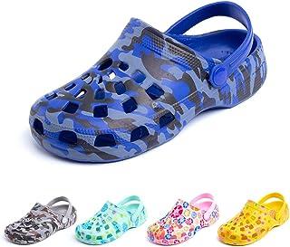 Zuecos Niño Playa Piscina Sandalias Niña Goma Zapatillas Casa Verano Zapatos Mules Jardin Clogs Plástico Ducha Cerrados Ne...