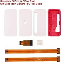 Raspberry Pi Zero W Official Case New, RPI Zero ABS Box Cover Shell Enclosure Cases(Plain, use for GPIO and Camera) Compatible for Raspberry Pi Zero V 1.3 Pi0 with 2pcs 15cm Camera FFC Flex Cable