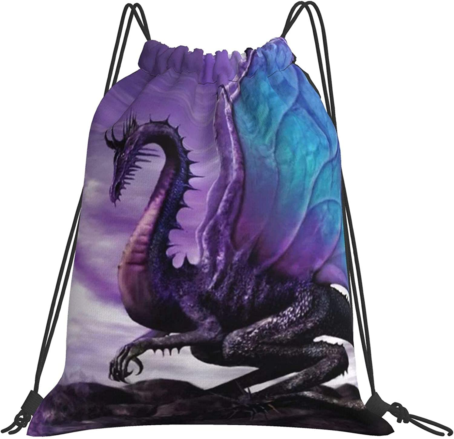 Purple Dragon Moon Drstring Backpack Sport Gym High quality new Bag Spring new work one after another Hiking