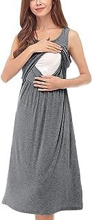 S, Blau ZHANSANFM Umstandskleid Damen Umstandsmode Casual Denim Sommerkleider Retro Sch/öne Maternity Dress 3//4 /Ärmellos Lace-up Stillzeit Minikleid Slim Fit Elegant Schwangerschaft Kleidung