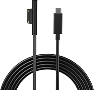 15V Surface Connect to USB-C Charging Cable, Charges Microsoft Surface Pro 6 5 4 3, Surface Book, Surface Go, Surface Laptop, Works with 45W USB C PD Charger Adapter