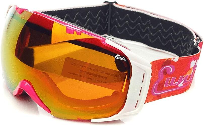 RXF Lunettes de Ski Unisexe Lunettes de Neige Doubles Anti-buée