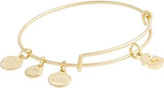 Alex and Ani Initial G III Bangle Bracelet Shiny Gold One Size (A20EBINT07SG)