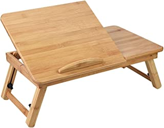 Wooden Laptop Stand, Reliable Convenient for Home(Blue, 50 * 30 Without Drawer)