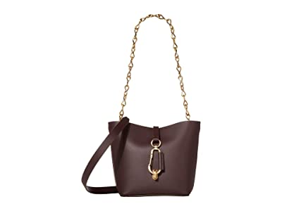 ZAC Zac Posen Belay Mini Hobo Crossbody Solid (Eggplant) Handbags