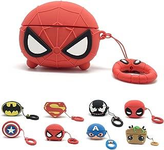 Artibox Airpods Pro ケース エアポッド カバー 3Dかわいい漫画 シリコンカバー 全面保護ケース Air Pods第三世代に適用 収納 バッグ 耐衝撃 紛失防止 イヤホン ケース (Red Spider)