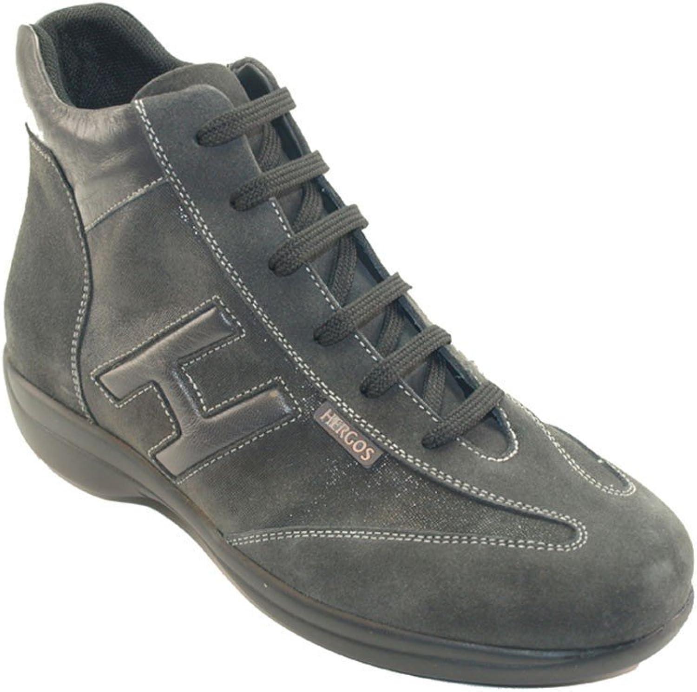 Hergos H 9103grau–Schuh komfortabel und elegant, echtes Leder und Wildleder–Rabatt letzten Zahlen