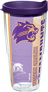 Tervis Western Carolina Catamounts College Pride Tumbler with Wrap and Royal Purple Lid 24oz, Clear