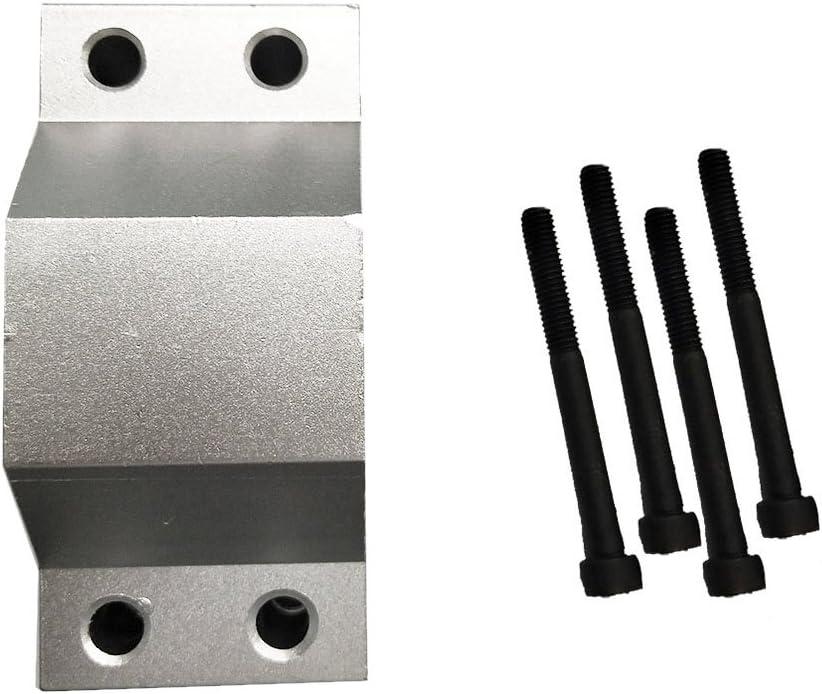 harayaa Elegant Popular 52mm Diameter Spindle Motor + Bracket Clamp Screws 4pcs