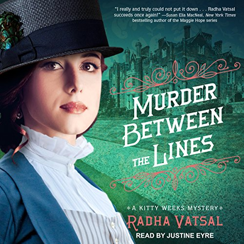 Murder Between the Lines audiobook cover art