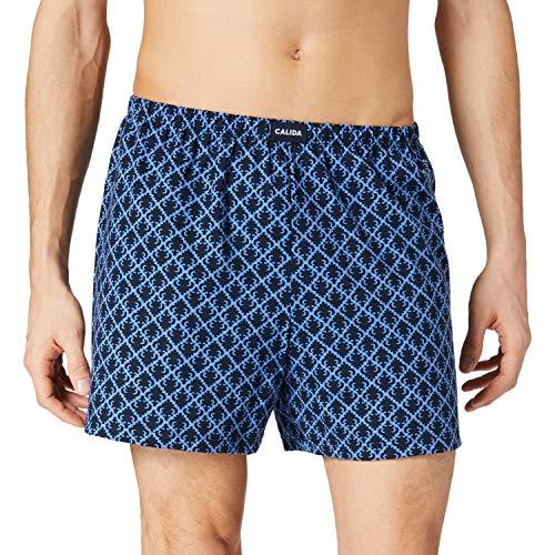 CALIDA Herren Yellowbration Boxershorts, Bay Blue, 50