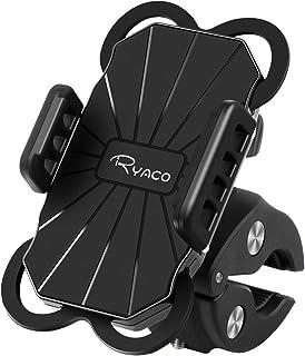 Ryaco Soporte de Móvil Deportiva para Bicicletas y Motos, Anti Vibración Soporte Móvil Bicicleta Universal con 360 Rotació...