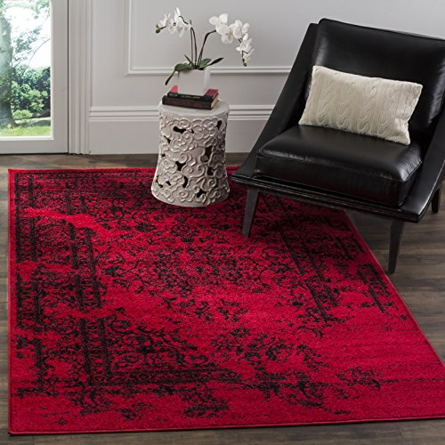 Safavieh Adirondack Collection ADR101F Red and Black Oriental Vintage Distressed Area Rug (3' x 5')
