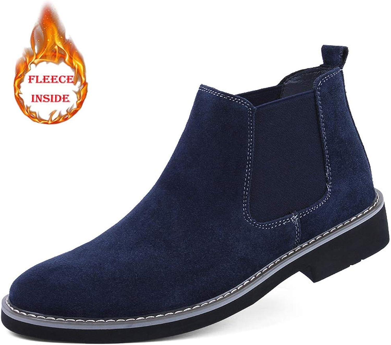 Easy Go Shopping Herren Lederschuhe Ankle Stiefel Lässig Bequem Winter Faux Fleece Inside High Top Stiefel,Grille Schuhe  | Charakteristisch