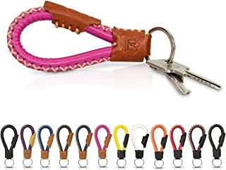 Handmade Genuine leather key chain key ring leather for men and women, unisex – 16 Different Colours.