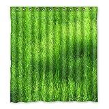 DOUBEE Gras Grün Wasserdichtes Duschvorhänge Non-toxic Shower Curtain 167cm x 183cm Mit Haken