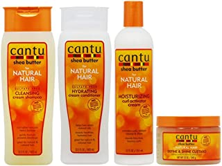 "Cantu Cleansing Cream Shampoo + Conditioner + Curl Activator Cream + Define & Shine Custard""Set"""