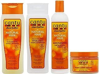 """Cantu Cleansing Cream Shampoo + Conditioner + Curl Activator Cream + Define & Shine Custard""""Set"""""""
