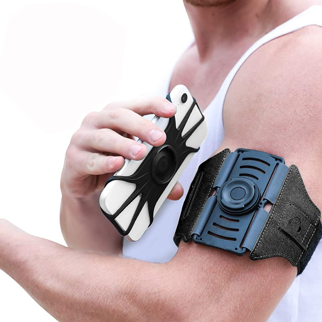 VUP Running Armband [All Screen Friendly, Detachable & 360°Rotatable] for iPhone Xs Max/Xs/XR/8 Plus/7 Plus/6s Plus/6, Galaxy S10 Plus/ S9 Plus/ S8/ A8 Plus, Note 4/5/8/9, Google Pixel 3/2 XL-Black ws3741943