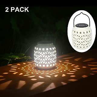 black outdoor solar lantern