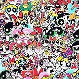 BLOUR 50 unids/Set Pegatinas de Chicas superpoderosas para niños Juguete Equipaje Motor Coche Maleta portátil monopatín Pared Cool Anime Dibujos Animados Pegatinas