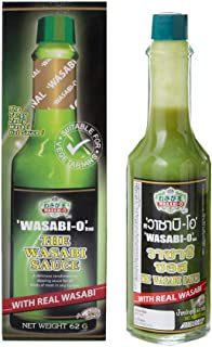 Wasabi-O's Oiginal Wasabi Sauce 62 g - 1 bottle uses Real Wasabi. It's innovative s ideal not only with Sushi, Salmon and ...