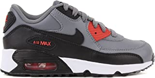 huge discount 73287 69742 Nike Air Max 90 LTR Cool Grey Black-Max Orange (Little Kid)