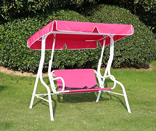Angel Living® Hollywoodschaukel Gartenschaukel 2 Sitzer mit Sonnenschutz aus Stahl