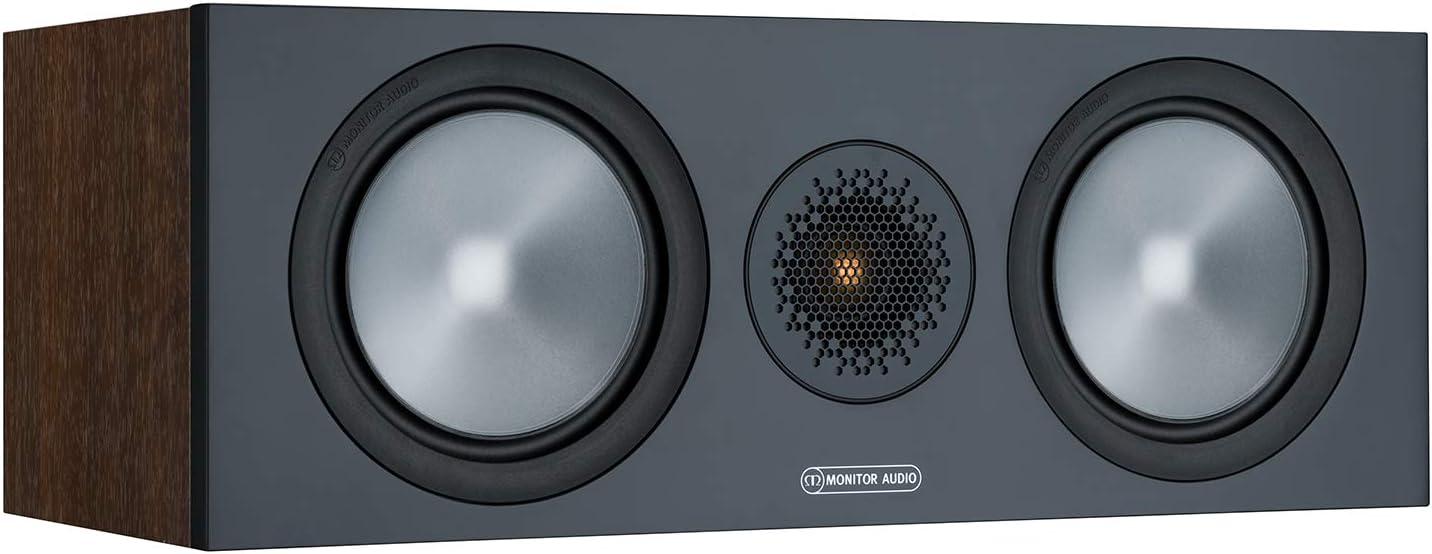 Monitor Audio Bronze C150 6g Farbe Walnuss Center Lautprecher Stück Heimkino 2 Wege 8 Ohm 120 Watt Magnetische Abdeckung Geschlossenes Gehäuse Passiv Audio Hifi