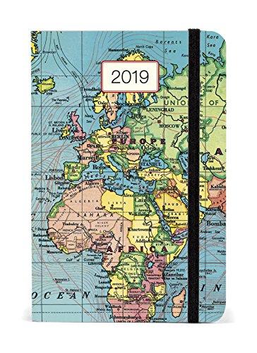 Cavallini Papers & Co Inc. 2019 Vintage Map Weekly Planner, Multi