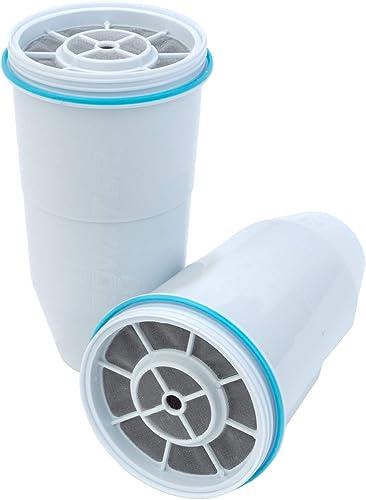 ZeroWater Cartouches de Filtre à Eau de Rechange (Pack de 2) sans BPA et certifié pour réduire Le Plomb et Les Autres...