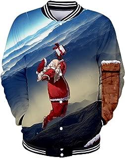 Baseball Uniform Tops for Mens Blouse Christmas Button Outwear Jacket Coats