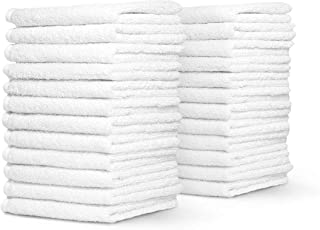 Honest Linen - Extra Large White Hand Towel Set, Pack of 12 | 100% Cotton | 16