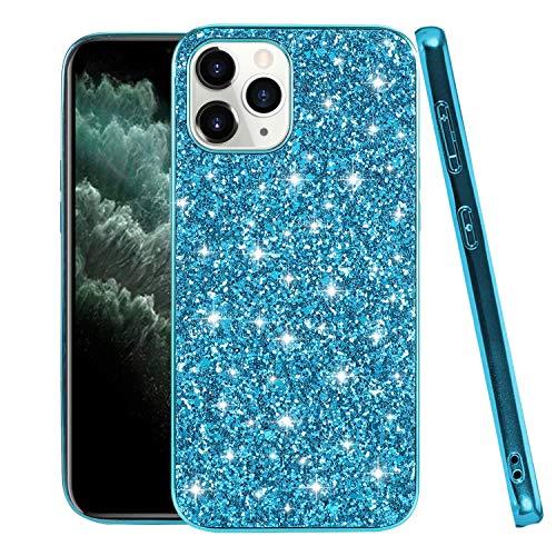 Compatible para funda iPhone 13 Pro Apple Rosa, funda iPhone 13 Pro Case Silicona Smartphone iPhone 13 Pro Cover Glitter (Azul, iPhone 13 Pro)