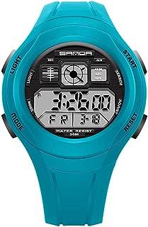 Fashion Child Smart Digital Watches, Luminous,Calendar,Alarm Clock,Week Display,Stopwatch,Waterproof etc.Sports Diver Juvenile boy Girl Male Female Student Intelligent Electronics Wristwatch,A