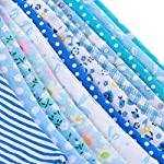 Whaline Fabric Bunting Banner 33 Feet Triangle Flag, 36pcs Floral Pennants, Double Sided Vintage Cloth Garland for…