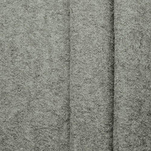 (19,99€/m) Favorit Walkloden - 100% Schurwolle, Kochwolle - weicher, wärmender Wollstoff - Meterware (grau-melange)