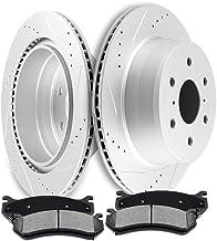 SCITOO Brake Kit Rear Discs Brake Rotors and Ceramic Brake Pads fit for Cadillac Escalade ESV,for Chevy Silverado 1500 Sub...