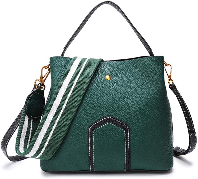 Casual Tote Designer Female Bucket Handbags Classic color Strap Shoulder Bags Handbag Large Capacity Crossbody Bag Shopping Green 22x25x13cm