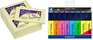 Assorted Colours Neon//Assorted Colours /&BIC Velleda 1721 Whiteboard Pens Snopake 11702 Sticky Note Cube - 76 x 76 mm Pouch of 8 450 Sheets//Cube