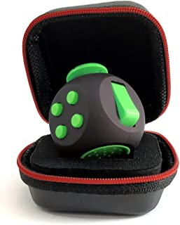 PILPOC theFube Fidget Cube - Premium Quality Fidget Cube Ball with Exclusive Protective Case, Stress Relief Toy (Black & Green)