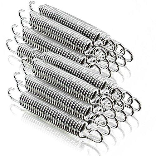 ms-point Ersatz Trampolin Spiral Federn für Outdoor-Trampoline Gartentrampoline Fittness-Trampoline Lange: 140mm / 21mm Ø (24 Stück)