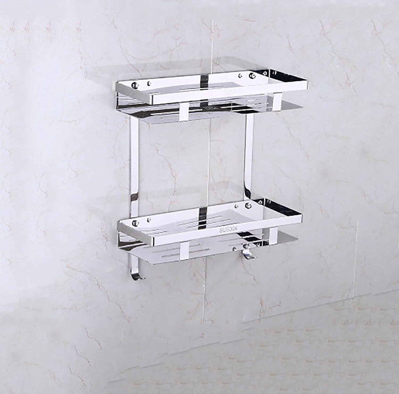 Bathroom Shelves Bathroom Shelf Wall Brushed Stainless Steel 304, Size 35.5cm (Style   1)