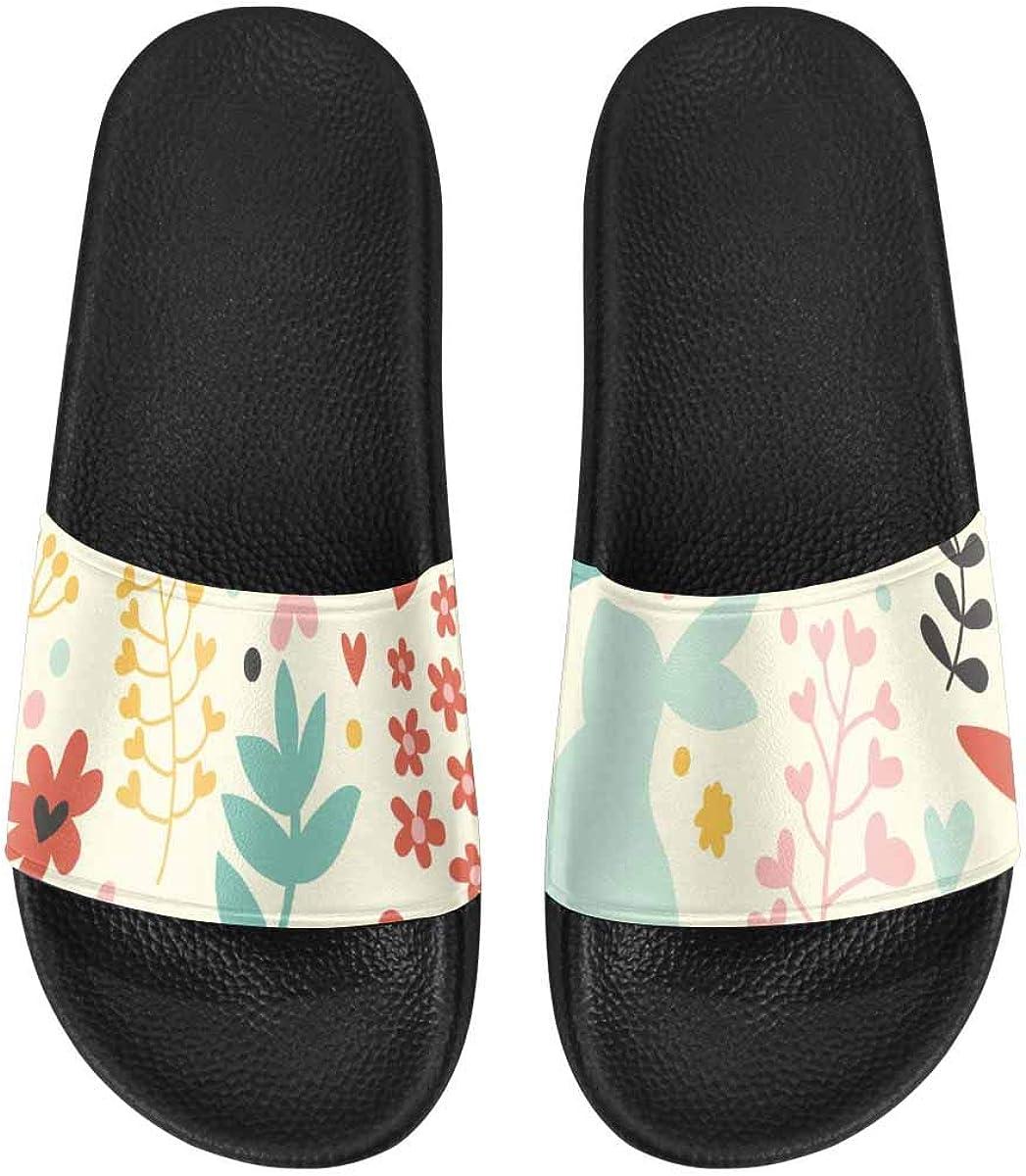 InterestPrint Slide Sandals for Women to Beach or Poor City Landscape Road